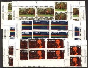 Canada - 1973 RCMP Centenary Blocks mint #612-614