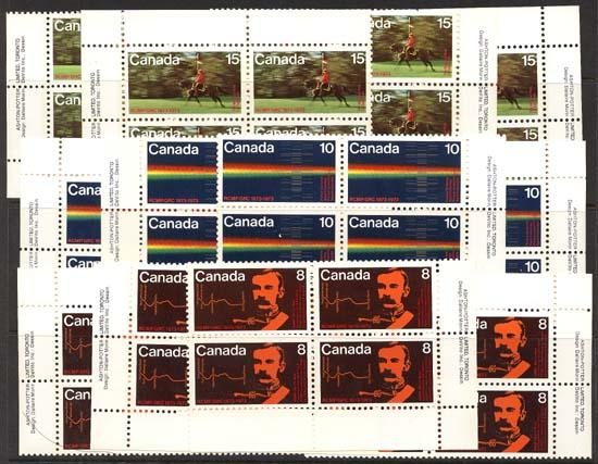 Canada - 1973 RCMP Centenary Blocks mint #612-614