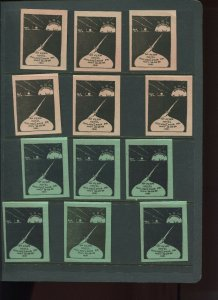VINTAGE LOT OF 12 1931 MAGIC Poster Stamps SOCIETY OF AMERICAN (L1119)