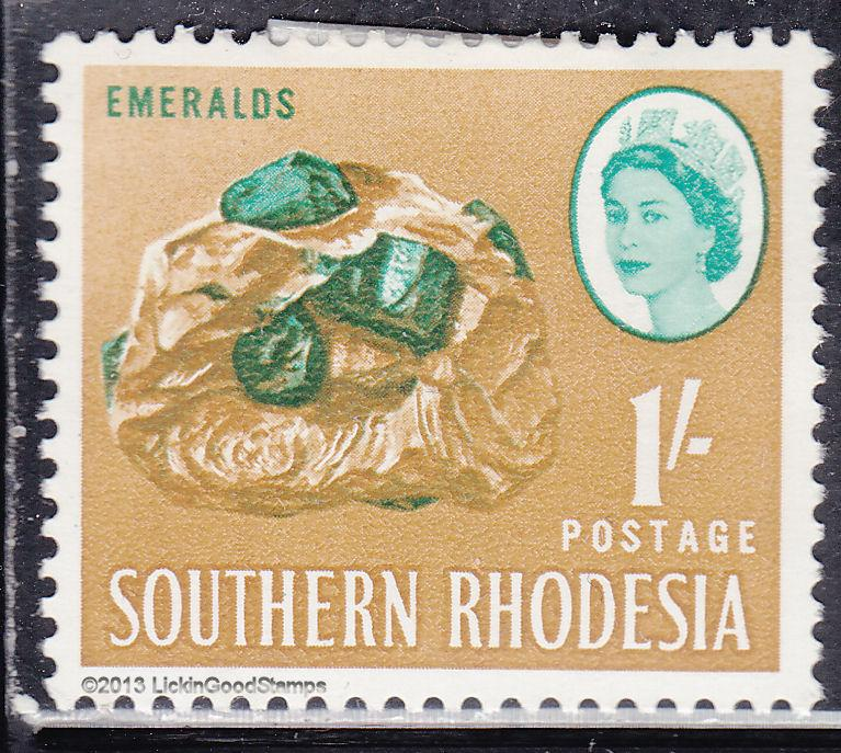 Southern Rhodesia 102 Emeralds 1964