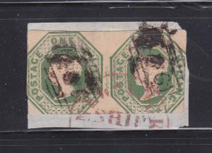 Great Britain 5 Pair Tied To Piece By Ship Cancel U Victoria