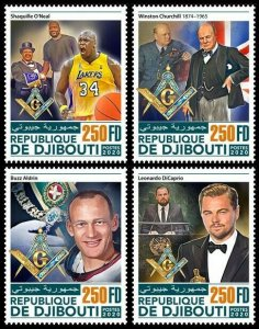 Stamps DJIBOUTI 2020. - FREEMASONS