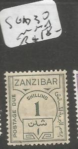 Zanzibar SG D30 MNH (3cul)