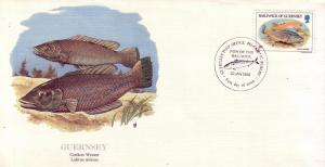 Guernsey FDC SC# 308 Cuckoo Wrasse L177