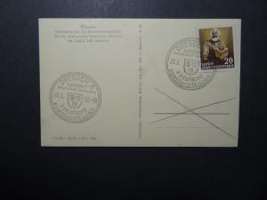 Germany DDR SC# 141 on 1953 Art Epxo Event Card  - Z12354