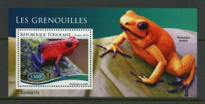 TOGO 2019 FROGS  SOUVENIR SHEET MINT NEVER HINGED
