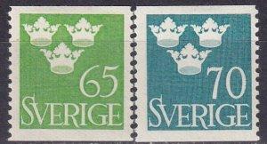 Sweden #416-7  F-VF Unused  CV $4.75 (Z5306)