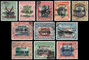 North Borneo Scott J21-31 (1903-11) Used/Mint H VF, CV $86.50 B