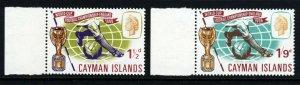 CAYMAN ISLANDS QE II 1966 Football World Cup Set SG 194 & SG 195 MNH