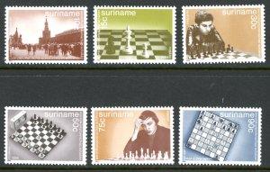Suriname 689-694 Chess game  MNH mint      (Inv 001310.)