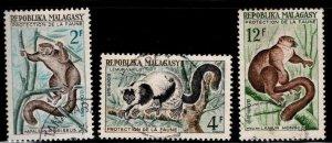 Madagascar Scott 321-323 Used stamp set