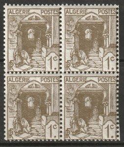 Algeria 1926 Sc 33 block MNH**