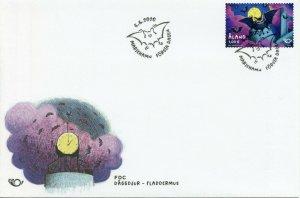 Aland Wild Animals Stamps 2020 FDC Bats Nordic Flying Mammals 1v Set