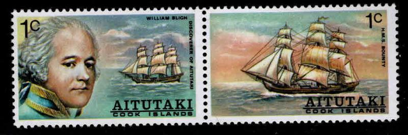 Aitutaki Cook Islands Scott 96-97a MNH** explorer pair