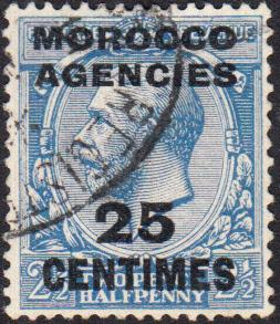 Great Britain - Offices in Morocco #405 Used