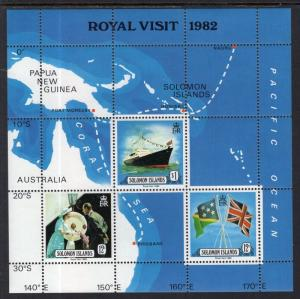 Solomon Islands MNH S/S 480A Royal Visit 1982