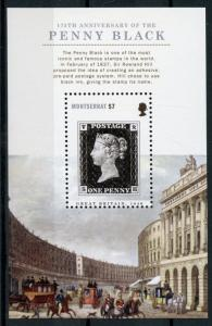 Montserrat 2015 MNH Penny Black 175th Anniv Rowland Hill 1v S/S Stamps on Stamps
