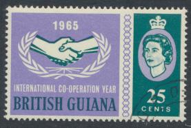 British Guiana SG 373 Used CTO (Sc# 296 see details) cooperation year