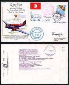 RV14d The Duke of Kent to Tunisia Signed by The Whole Royal Vist Crew