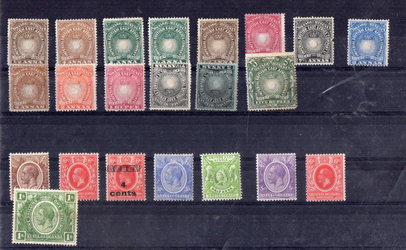 BRITISH EAST AFRICA COMPANY  1890 COLLECTION OF UNUSED STAMPS HCV