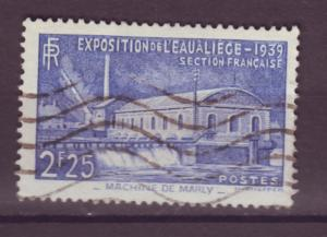 J15139 JLstamps 1939  france set of 1 used #388 water expo