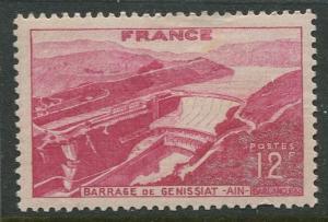 France - Scott 607 - General Issue -1948 - MLH - Single 12fr Stamp