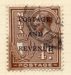 Malta 1928 Early Issue Fine Used 1/4d. Optd 029162