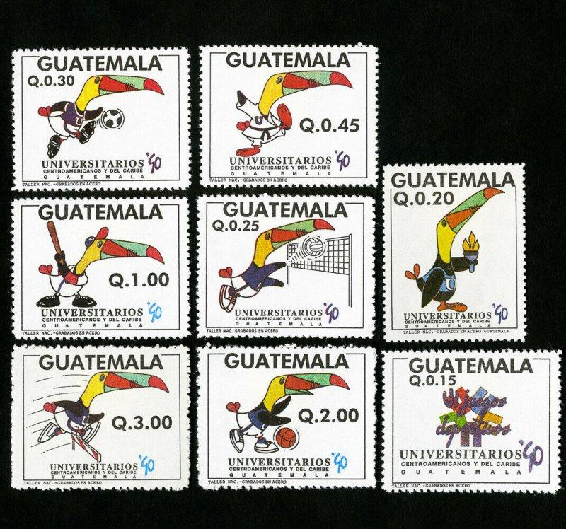 Guatemala Stamps # 455-60 XF OG NH