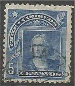 CHILE, 1905  used 5c, Columbus Scott 71
