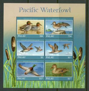 PALAU 2019 PACIFIC WATERFOWL SET OF TWO SHEETS  MINT NEVER HINGED