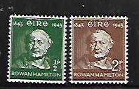 IRELAND, 126-127, MINT HINGED, SIR ROWAN HAMILTON