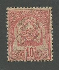 Tunisia Scott Catalog Number 14 Used Issued in the year 1901