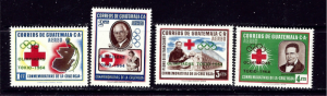 Guatemala C283-86 MNH 1964 Olympics Overprint set