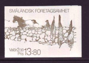 Sweden Sc 1760a 1989 Smaland Businesses stamp booklet mint NH