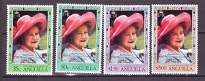 J22367 Jlstamps 1980 anguilla set mnh #394-7 queen mom