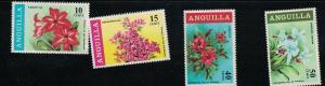 Anguilla SC70-73 Beautiful Flowers MNH 1968