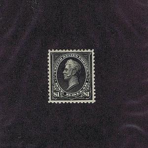 SC# 261A UNUSED ORIGINAL GUM HINGED $1 PERRY, 1895, 2019 PSAG CERT GRADED XF 90