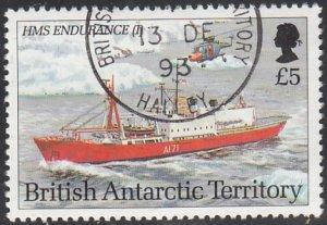 British Antarctic Territory 1993 used Sc #213 5pd HMS Endurance I Research Ships