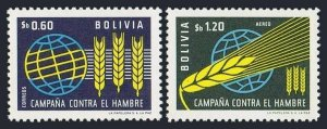 Bolivia 471,C249 block/4,MLH/MNH.Michel 696-697. FAO 1963.Freedom from Hunger.