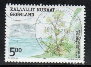 Greenland Sc 431 2004 5 kr Edible Plant stamp used