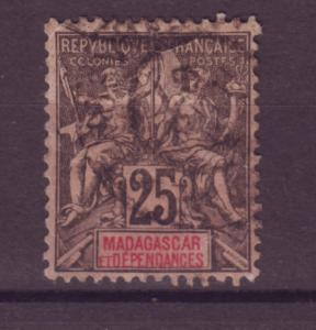J17677 JLstamps 1896-06 madagascar used #38 the colony