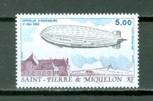 ST.PIERRE & MIQUELON  ZEPPELIN  #C63...MNH...$2.50
