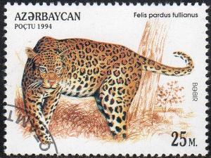Azerbaijan 467 - Cto - 25m Anatolian Leopard (1994) (cv $0.60) (2)