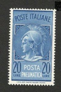 ITALY - MH STAMP -POSTA PNEUMATICA , 20 L - 1958.
