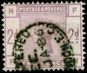 SG189, 2d lilac, USED. Cat £75. FN
