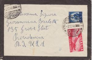 Italy Sc 472/C110 on 1946 Mourning Cover to US