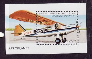 Guinea-Sc#1311-unused NH sheet-Planes-Aircraft-1995-