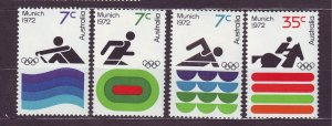 J23479 JLstamps 1972 australia set mnh #527-30 sports