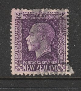 New Zealand a used 2d violet KGV perf 14 x 14.5