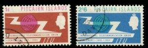 PITCAIRN ISLANDS SG49/50 1965  I.T.U. FINE USED